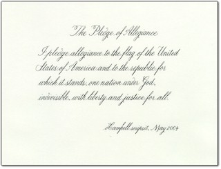 I Pledge Allegiance to the Flag Black and White